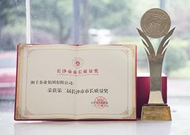 厉害了!市长亲自颁奖,湘丰荣获长沙市最高质量荣誉!